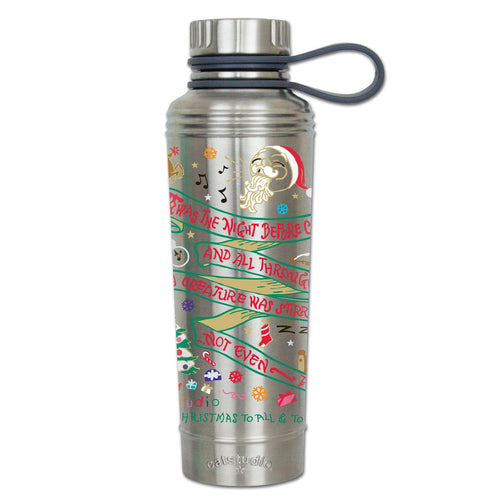 Night Before Christmas Thermal Bottle Thermal Bottle catstudio