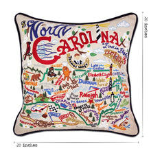 Load image into Gallery viewer, North Carolina Hand-Embroidered Pillow - catstudio