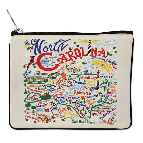 North Carolina Zip Pouch - Natural - catstudio