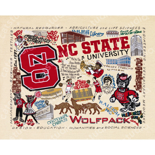 North Carolina State University Collegiate Fine Art Print - catstudio