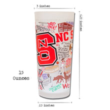 Load image into Gallery viewer, North Carolina State University Collegiate Drinking Glass - catstudio