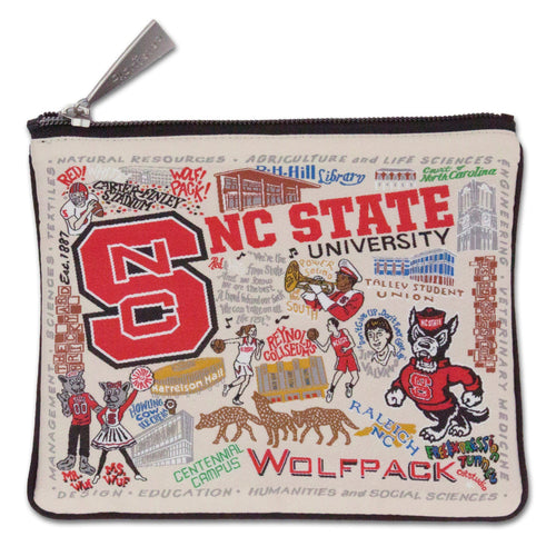 North Carolina State University Collegiate Zip Pouch - catstudio
