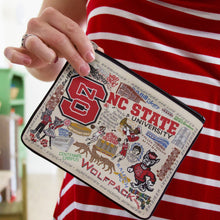 Load image into Gallery viewer, North Carolina State University Collegiate Zip Pouch - catstudio