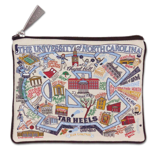North Carolina, University of Collegiate Zip Pouch - catstudio