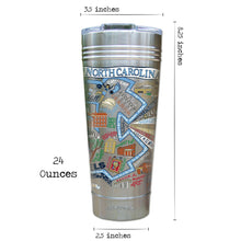 Load image into Gallery viewer, North Carolina, University of Collegiate Thermal Tumbler (Set of 4) - PREORDER Thermal Tumbler catstudio