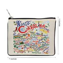 Load image into Gallery viewer, North Carolina Zip Pouch - Natural - catstudio
