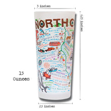 Load image into Gallery viewer, North Coast Drinking Glass - catstudio