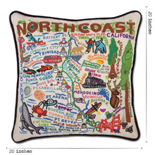 Load image into Gallery viewer, North Coast Hand-Embroidered Pillow - catstudio