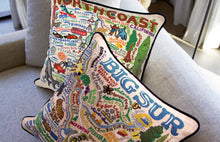 Load image into Gallery viewer, North Coast Hand-Embroidered Pillow Pillow catstudio