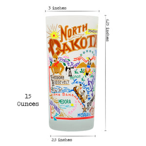 North Dakota Drinking Glass - catstudio