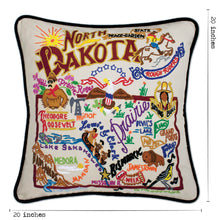 Load image into Gallery viewer, North Dakota Hand-Embroidered Pillow Pillow catstudio