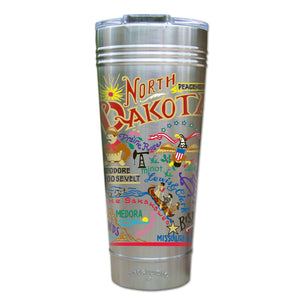 North Dakota Thermal Tumbler (Set of 4) - PREORDER Thermal Tumbler catstudio