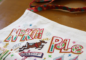 North Pole 1 Apron Apron catstudio