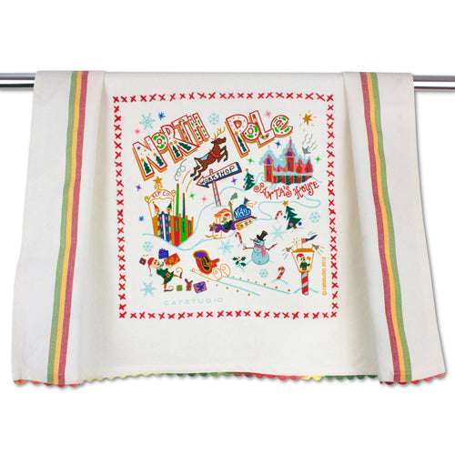 North Pole 1 Dish Towel Dish Towel catstudio
