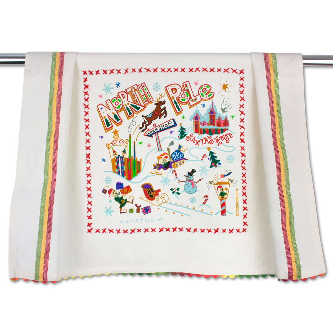 North Pole 1 Dish Towel - catstudio