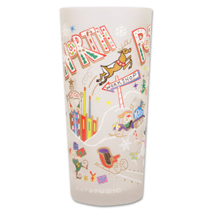 North Pole 1 Drinking Glass - catstudio