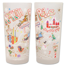 Load image into Gallery viewer, North Pole 1 Drinking Glass - catstudio