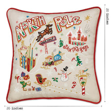 Load image into Gallery viewer, North Pole 1 Hand-Embroidered Pillow Pillow catstudio