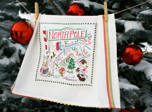 North Pole City Dish Towel Dish Towel catstudio