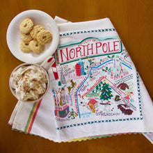 Load image into Gallery viewer, North Pole City Dish Towel - catstudio