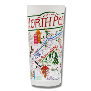 North Pole City Drinking Glass - catstudio