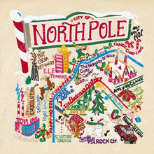 Load image into Gallery viewer, North Pole City Fine Art Print - catstudio