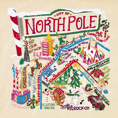 North Pole City Fine Art Print Art Print catstudio