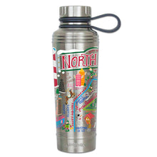 Load image into Gallery viewer, North Pole City Thermal Bottle - catstudio