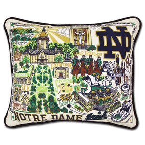 Notre Dame, University of Collegiate Embroidered Pillow Pillow catstudio