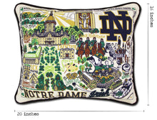 Load image into Gallery viewer, Notre Dame, University of Collegiate Embroidered Pillow Pillow catstudio