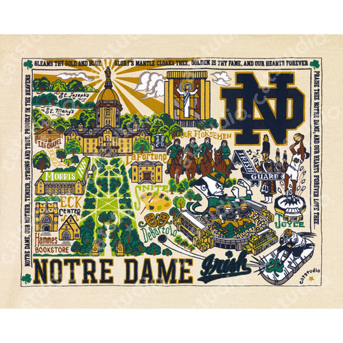 Notre Dame, University of Collegiate Fine Art Print - catstudio
