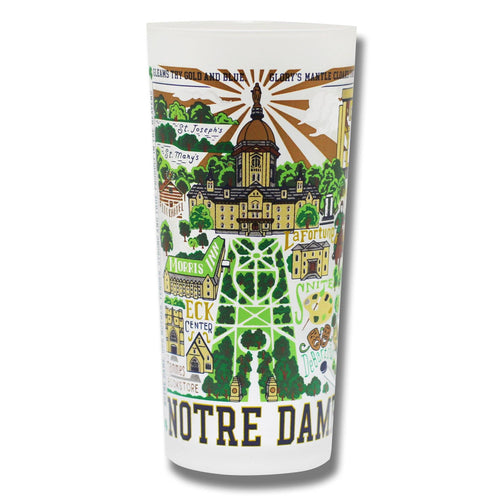 Notre Dame, University of Collegiate Drinking Glass - catstudio