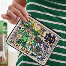 Load image into Gallery viewer, Notre Dame, University of Collegiate Zip Pouch - catstudio