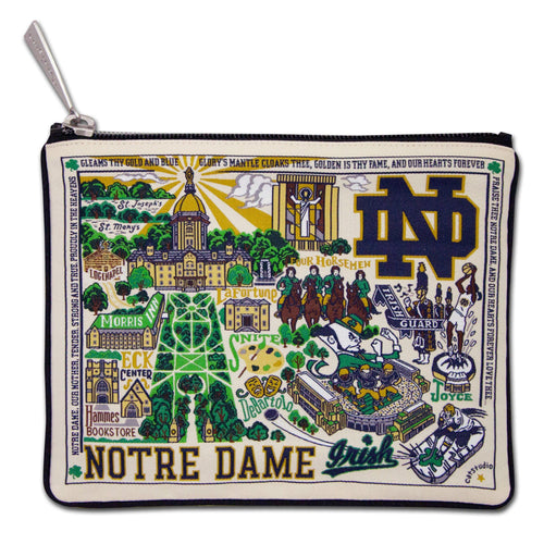 Notre Dame, University of Collegiate Zip Pouch Pouch catstudio