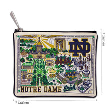 Load image into Gallery viewer, Notre Dame, University of Collegiate Zip Pouch Pouch catstudio
