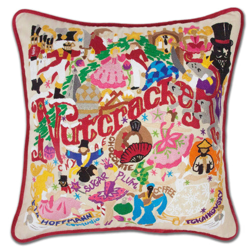 Nutcracker XL Hand-Embroidered Pillow - catstudio