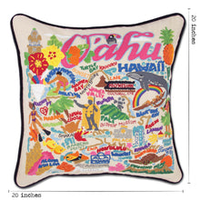 Load image into Gallery viewer, Oahu Hand-Embroidered Pillow - catstudio