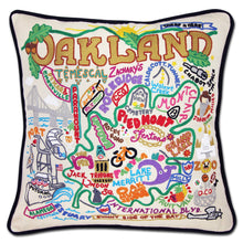 Load image into Gallery viewer, Oakland Hand-Embroidered Pillow - catstudio