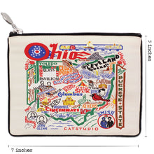 Load image into Gallery viewer, Ohio Zip Pouch - Natural - catstudio