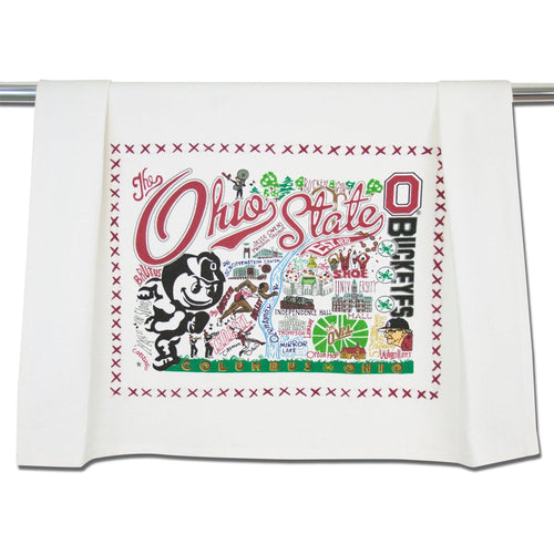 Ohio State University Collegiate Dish Towel Dish Towel catstudio