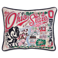Load image into Gallery viewer, Ohio State University Collegiate Embroidered Pillow - catstudio