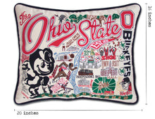 Load image into Gallery viewer, Ohio State University Collegiate Embroidered Pillow Pillow catstudio
