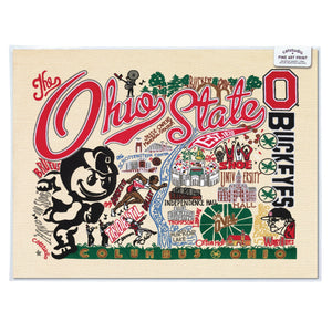 Ohio State University Collegiate Fine Art Print - catstudio