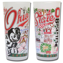 Load image into Gallery viewer, Ohio State University Collegiate Drinking Glass - catstudio
