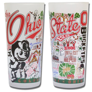 Ohio State University Collegiate Glass Glass catstudio