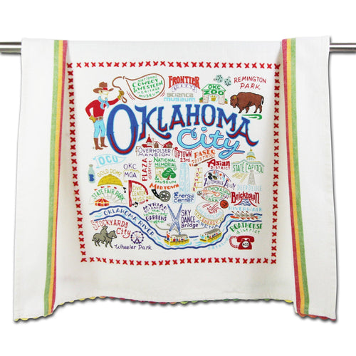 Oklahoma City Dish Towel - catstudio