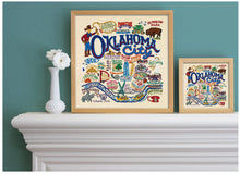 "Load image into Gallery viewer, Oklahoma City Fine Art Print Art Print catstudio 16""x16"" - Framed"