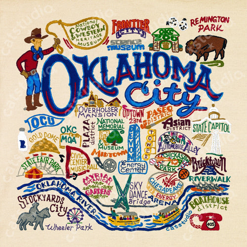 Oklahoma City Fine Art Print - catstudio