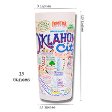 Load image into Gallery viewer, Oklahoma City Drinking Glass - catstudio