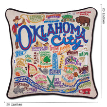 Load image into Gallery viewer, Oklahoma City Hand-Embroidered Pillow Pillow catstudio
